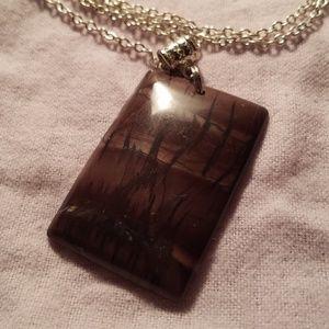 Jewelry - Beautiful Picture Jasper Pendant Necklace...
